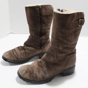 Ugg Australia Tall Boots 1912 suede Side Zip 8.5